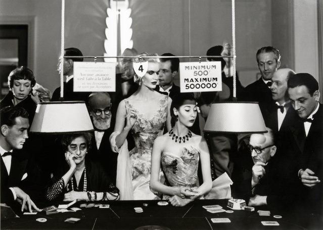 Sunny Harnett And Alla, Evening Dresses By Balmain, Casino, Le Touquet, August 1954, by Richard Avedon. (Photo by Richard Avedon/Beetles+Huxley & Osborne Samuel)