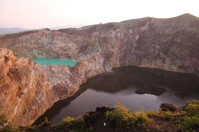 Indonesia Lakes of Mount Kelimutu