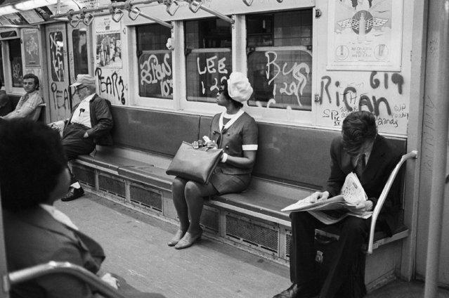 Graffiti on New York City subways shown on July 26, 1972. (Photo by Jim Wells/AP Photo)