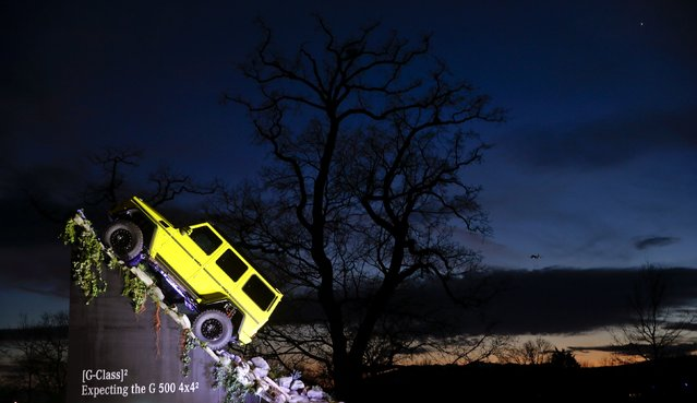 The Mercedes G-Class G 500 4x4 off-road car is seen during the first press day, ahead of the 85th International Motor Show outside the Palexpo fairground in Geneva March 3, 2015. REUTERS/Arnd Wiegmann