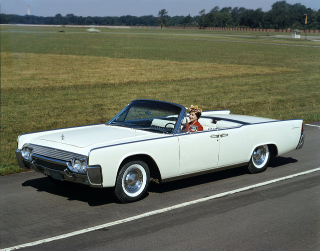 This undated photo provided by the Ford Motor Co. shows the 1961 Lincoln Continental convertible. (Photo by AP Photo/Ford Motor Co.)