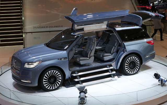 The Lincoln Navigator concept SUV is displayed during the North American International Auto Show in Detroit, Michigan, U.S., January 10, 2017. (Photo by Rebecca Cook/Reuters)