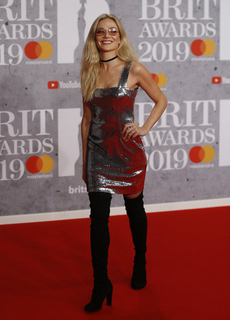 Clara Paget arrives for the Brit Awards at the O2 Arena in London, Britain, February 20, 2019. (Photo by Peter Nicholls/Reuters)