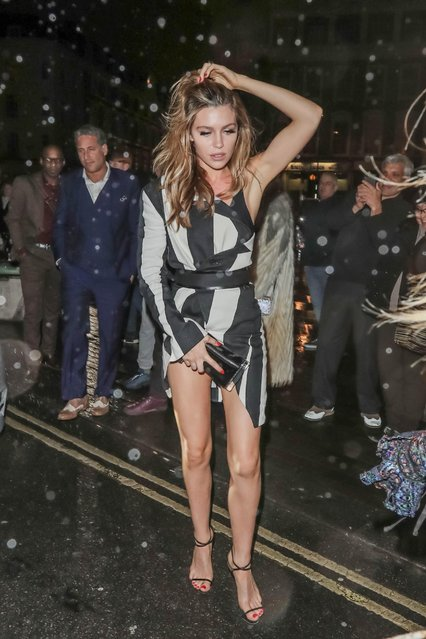 Abbey Clancy attends Warner Music Brits after party on February 22, 2017 in London, England. (Photo by FameFlynet)