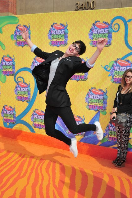 Actor Matt Bennett attends Nickelodeon's 27th Annual Kids' Choice Awards held at USC Galen Center on March 29, 2014 in Los Angeles, California. (Photo by Frazer Harrison/Getty Images)