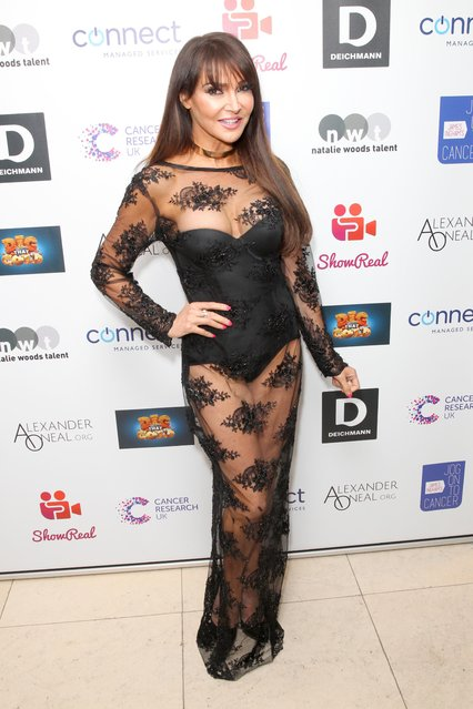 Lizzie Cundy attends James Ingham's Jog-On to Cancer part 5 at Kensington Roof Gardens on April 12, 2017 in London, England. (Photo by Fame Flynet)