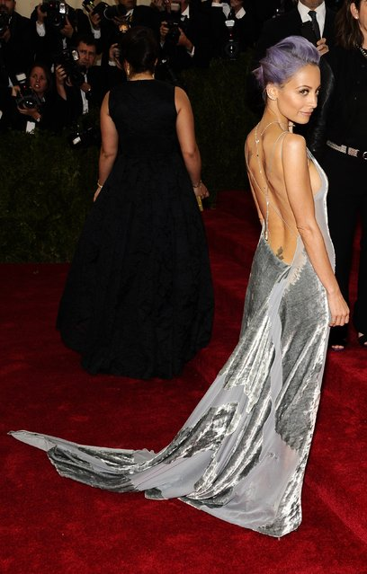 "Nicole Richie attends The Metropolitan Museum of Art's Costume Institute benefit gala celebrating ""Charles James: Beyond Fashion"" on Monday, May 5, 2014, in New York. (Photo by Charles Sykes/Invision/AP Photo)"