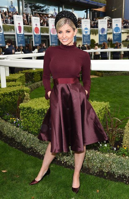 UK Love Island's Amy Hart attends the QICPO British Champions Day at Ascot Racecourse on October 19, 2019 in Ascot, England. (Photo by Stuart C. Wilson/Getty Images)