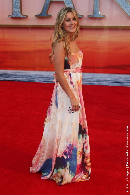Caggie Dunlop attends the world premiere of Titanic 3D at The Royal Albert Hall