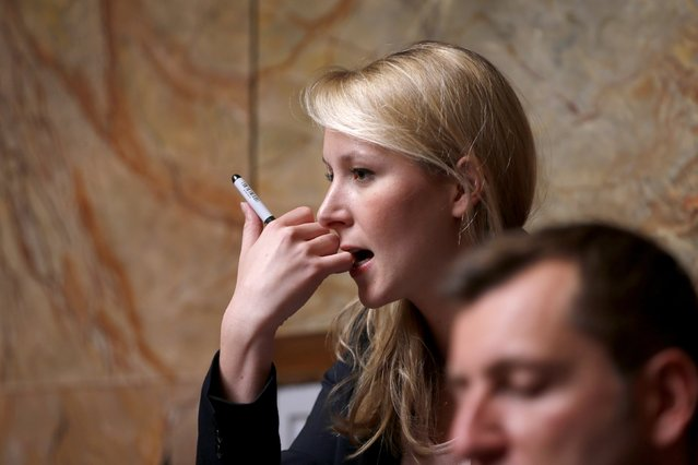 French National Front party deputy Marion Marechal-Le Pen attends the questions to the government session at the National Assembly in Paris April 14, 2015. (Photo by Charles Platiau/Reuters)