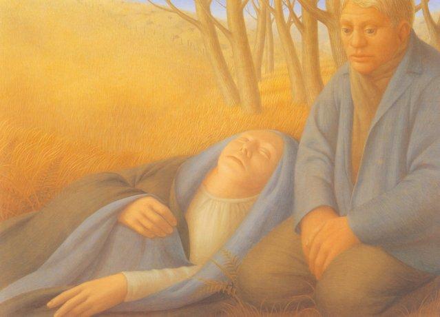 Meadow I. Artwork by George Tooker