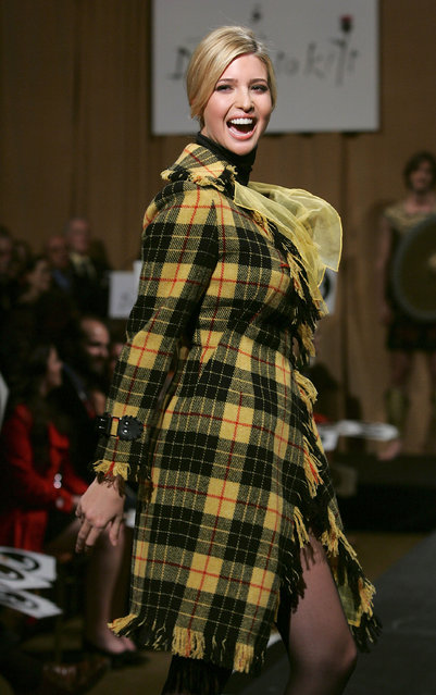 """Ivanka Trump walks the runway at Johnnie Walker's """"Dressed To Kilt 2007"""" fashion show at Capitale on April 2, 2007 in New York City. (Photo by Peter Kramer/Getty Images)"""