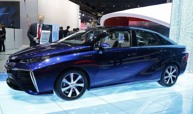 A Toyota Mirai hydrogen fuel cell car is pictured during the media day at the Frankfurt Motor Show (IAA) in Frankfurt, Germany, September 15, 2015. (Photo by Kai Pfaffenbach/Reuters)