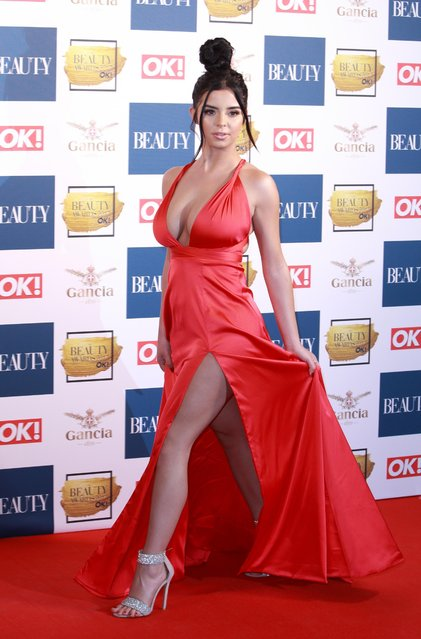 Demi Rose attends The Beauty Awards at Tower of London on November 28, 2017 in London, England. (Photo by Flynet Pictures)