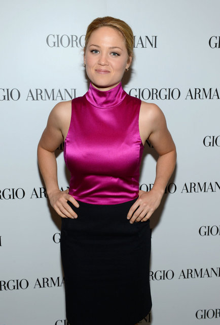 Actress Erika Christensen, wearing Emporio Armani attends the Giorgio Armani Beauty Luncheon on December 6, 2012 in Beverly Hills, California. (Photo by Michael Buckner for Giorgio Armani Beauty)