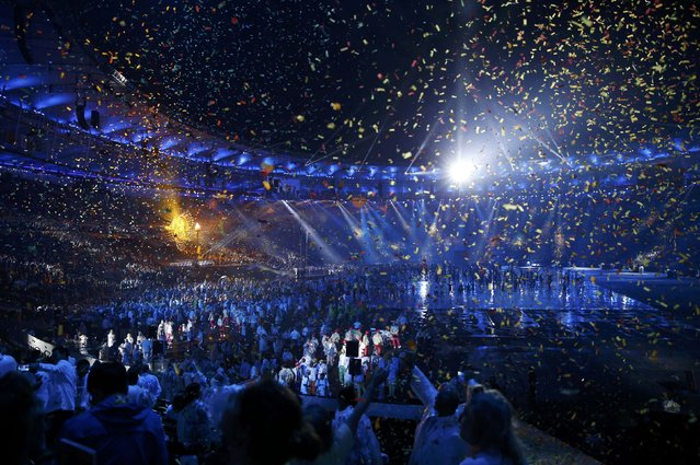 2016 Rio Paralympics, Opening ceremony, Maracana, Rio de Janeiro, Brazil on September 7, 2016. Confetti falls during the opening ceremony. (Photo by Carlos Garcia Rawlins/Reuters)