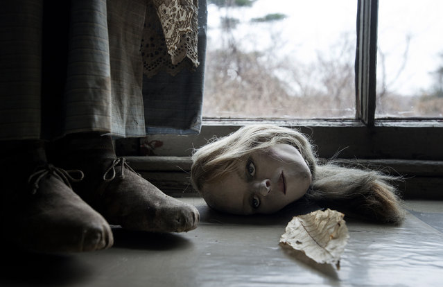 A doll head on a window sill in the studio of late artist Andrew Wyeth on April 7 in Chadds Ford, PA. Wyeth was known as a prankster – he loved Halloween Ц  and according to a curator at The Brandywine River Museum, he decided he enjoyed the head off more than on. (Photo by Bonnie Jo Mount/The Washington Post)