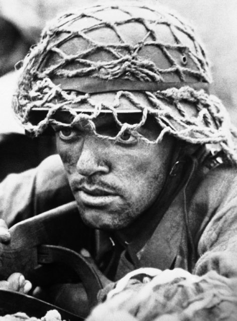 A German soldier, fighting somewhere on the Russian front on September 29, 1943. (Photo by AP Photo)