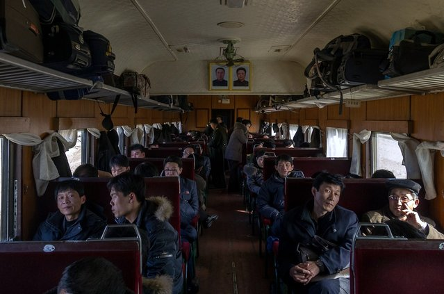 Anybody traveling outside of Korea occupies the Chinese cars. At the border they unhitch the Korean cars and engine. The cars are pulled over the border by a chinese engine and attatched to modern chinese cars. (Eric Testroete)