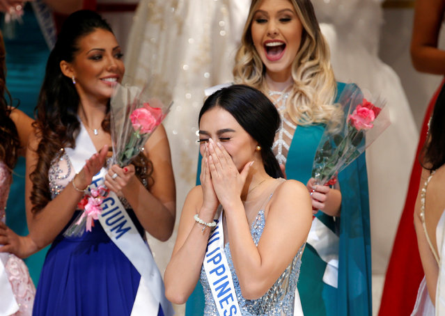 The winner of the Miss International 2016 Kylie Verzosa representing Philippines reacts as she was selected as the winner during the 56th Miss International Beauty Pageant in Tokyo, Japan October 27, 2016. (Photo by Kim Kyung-Hoon/Reuters)