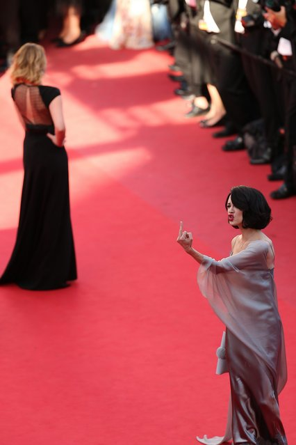 """Actress Asia Argento attends the """"Zulu"""" Premiere and Closing Ceremony during the 66th Annual Cannes Film Festival at the Palais des Festivals on May 26, 2013 in Cannes, France.  (Photo by Neilson Barnard/Getty Images)"""