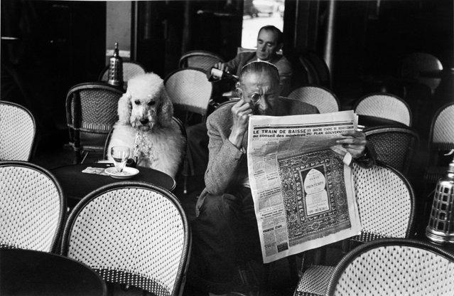 Cafe De Flore, Saint Germain Des Pres, Paris, 1953, by Edouard Boubat. (Photo by Edouard Boubat/Beetles+Huxley & Osborne Samuel)