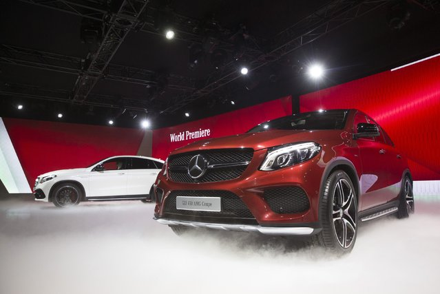 The new Mercedes GLE Coupe is revealed during a preview event for the media, ahead of the 2015 North American International Auto Show (NAIAS) in Detroit, Michigan, January 11, 2015. (Photo by Mark Blinch/Reuters)
