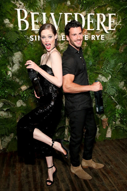 Coco Rocha and Steve Gold attend the launh of Belvedere Vodka's Single Estate Rye Series at Inaugural Bar Convent Brooklyn on June 12, 2018 in New York City. (Photo by Astrid Stawiarz/Getty Images for Belvedere)