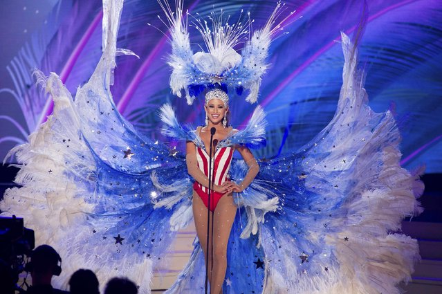 Nia Sanchez, Miss USA 2014, debuts her national costume during the Miss Universe Preliminary Show in Miami, Florida in this January 21, 2015 handout photo. (Photo by Reuters/Miss Universe Organization)