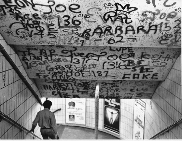 Graffiti sprayed on the subway of New York on July 27, 1972. (Photo by AP Photo)