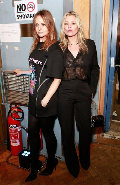 Stella McCartney and Kate Moss attend the Stella McCartney Menswear Launch and Women's Spring 2017 Collection Presentation at Abbey Road Studios on November 10, 2016 in London, England. (Photo by David M. Benett/Dave Benett/ Getty Images for Stella McCartney)