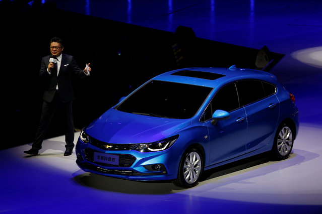 A Cruze car is shown at a Chevrolet event in Guangzhou, China November 17, 2016. (Photo by Bobby Yip/Reuters)