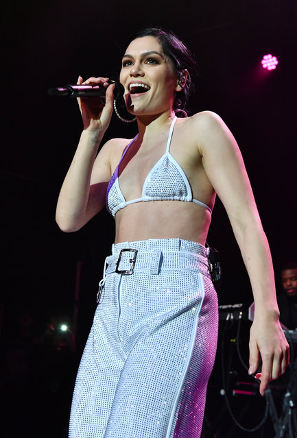 """Singer Jessie J performs in concert during her """"The R.O.S.E."""" tour at Buckhead Theatre on October 25, 2018 in Atlanta, Georgia. (Photo by Paras Griffin/Getty Images)"""