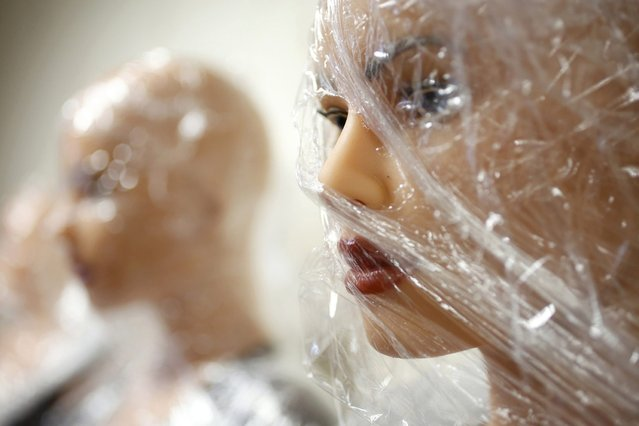 Silicone dream dolls are seen at the workshop of the Dreamdoll company in Duppigheim near Strasbourg, December 2, 2014. (Photo by Vincent Kessler/Reuters)