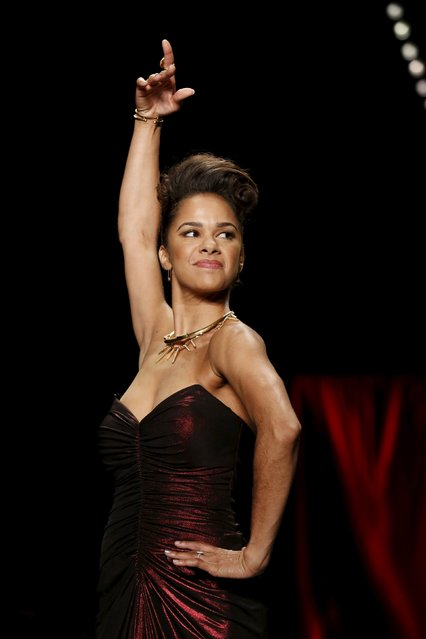 Misty Copeland presents a creation during the American Heart Association's (AHA) Go Red For Women Red Dress Collection, presented by Macy's at New York Fashion Week February 11, 2016. (Photo by Andrew Kelly/Reuters)