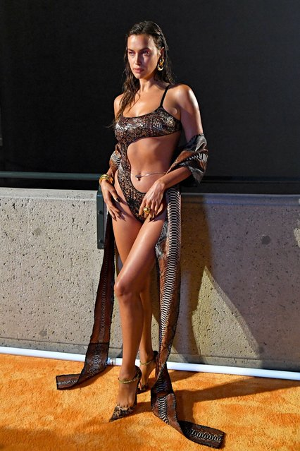In this image released on September 23, Irina Shayk is seen during Rihanna's Savage X Fenty Show Vol. 3 presented by Amazon Prime Video at The Westin Bonaventure Hotel & Suites in Los Angeles, California; and broadcast on September 24, 2021. (Photo by Kevin Mazur/Getty Images for Rihanna's Savage X Fenty Show Vol. 3 Presented by Amazon Prime Video)