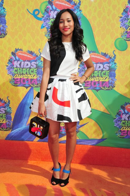 Actress Sydney Park attends Nickelodeon's 27th Annual Kids' Choice Awards held at USC Galen Center on March 29, 2014 in Los Angeles, California. (Photo by Frazer Harrison/Getty Images)
