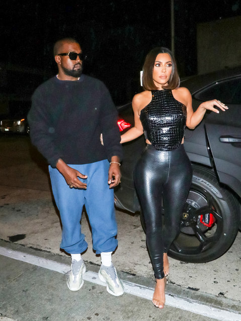 Kim Kardashian and Kanye West are seen on July 10, 2019 in Los Angeles, California. (Photo by gotpap/Bauer-Griffin/GC Images)
