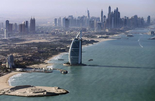 A general view of the luxury Burj al-Arab Hotel at Jumeirah area in Dubai, UAE December 9, 2015. (Photo by Karim Sahib/Reuters)