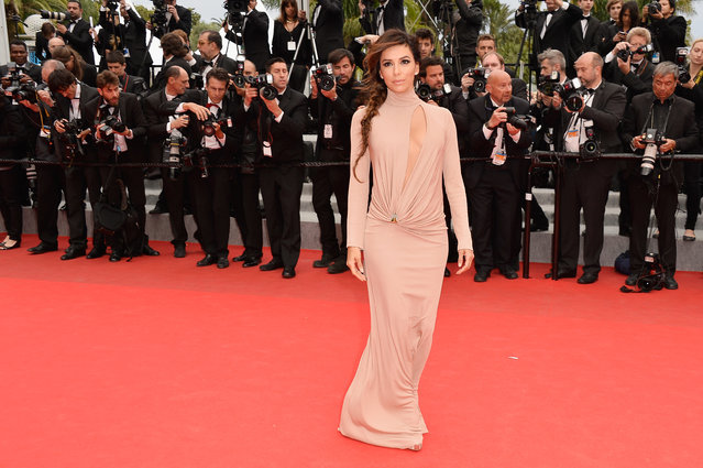 """Eva Longoria attends the """"Foxcatcher"""" premiere during the 67th Annual Cannes Film Festival on May 19, 2014 in Cannes, France. (Photo by Pascal Le Segretain/Getty Images)"""