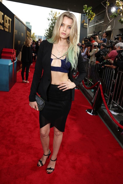 "Abbey Lee seen at the Los Angeles Premiere of STX Entertainment ""The Gift"" held at Regal Cinemas LA Live on Thursday, July 30, 2015, in Los Angeles. (Photo by Eric Charbonneau/Invision for STX Entertainment/AP Images)"