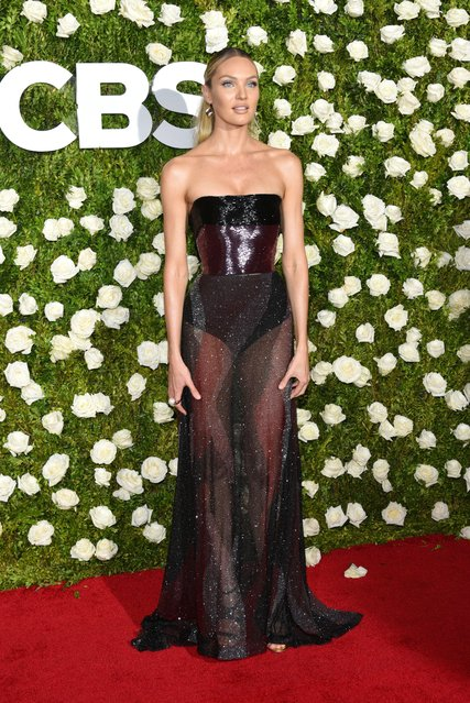 Victoria's Secret model Candice Swanepoel attends the 2017 Tony Awards at Radio City Music Hall on June 11, 2017 in New York City. (Photo by Gregory Pace/Rex Features/Shutterstock)