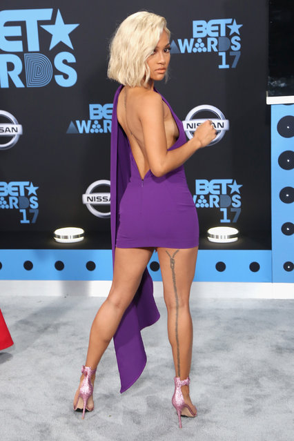 Karrueche Tran at the 2017 BET Awards at Microsoft Square on June 25, 2017 in Los Angeles, California. (Photo by Maury Phillips/Getty Images)