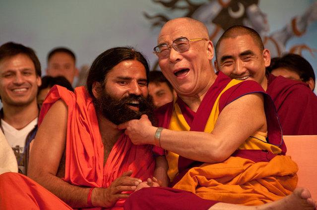 Swami Ramdev and 14th Dalai Lama