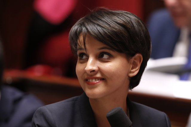 French Education and Research minister Najat Vallaud-Belkacem attends the questions to the government session at the National Assembly in Paris April 14, 2015. (Photo by Charles Platiau/Reuters)