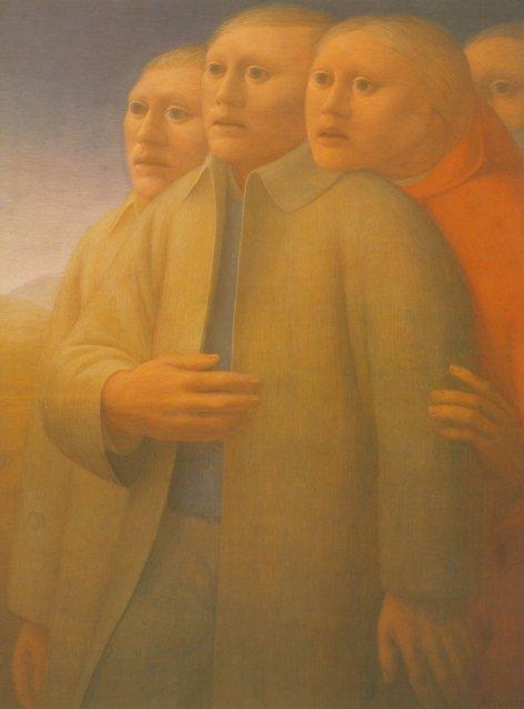 Watchers. Artwork by George Tooker