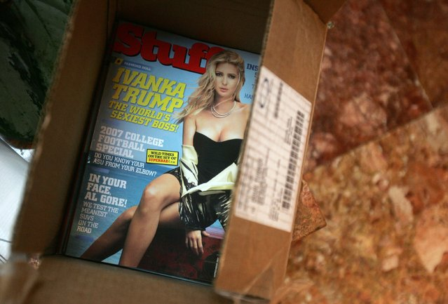 Copies of Stuff Magazine are seen at the preview of their September fall fashion issue August 14, 2007 in New York City. Ivanka Trump appears on the cover of the issue. (Photo by Peter Kramer/Getty Images)