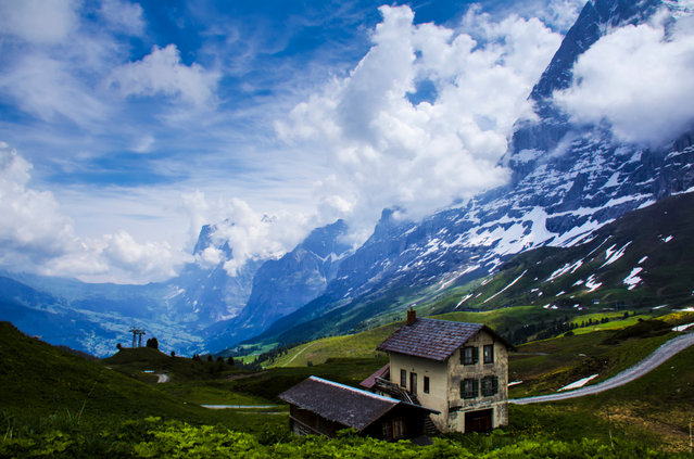 """Kleine Scheidegg"". We had one full day in the Berner Oberland during our trip through the Alps. Our one day happened to be very cloudy with a forecast of afternoon thunderstorms. We got onto the Panorama Trail early and we able to catch a few breaks in the clouds. (Photo and caption by Douglas Croft/National Geographic Photo Contest)"