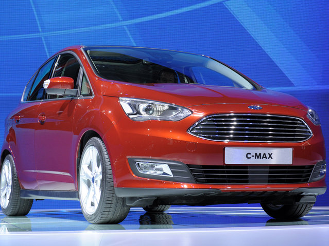 The Ford C Max is unveiled during a press conference at the Paris Autos Show on October 2, 2014 on the first of the two press days. (Photo by Eric Piermont/AFP Photo)