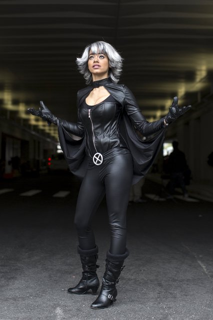 Kristel Jackman, dressed as the character Storm, poses on day two of New York Comic Con in Manhattan, New York, October 9, 2015. (Photo by Andrew Kelly/Reuters)